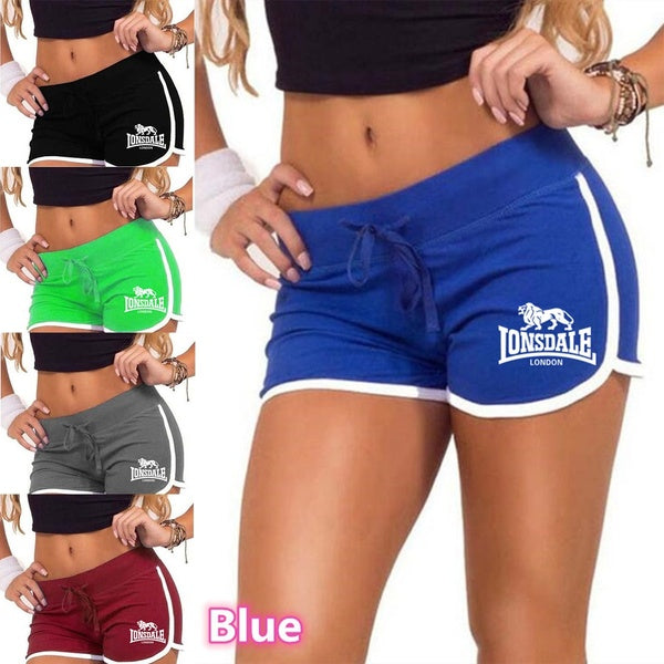 New Summer Fashion LondonLonsdale Women Beach Short Gym Workout Waistband Casual Shorts Athletic Shorts Pants Yoga Sport Shorts