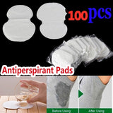 100pcs Summer Disposable Sweat Pad Perspiration Absorbing Guard Underarm Armpit Sweat Pad Pure Antiperspirant Adhesive Underarm Pads