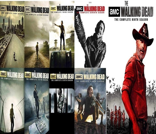 THE WALKING DEAD DVD SERIES SEASONS 1-9 Complete Series 1 2 3 4 5 6 7 8 9 Popular American TV Series Movies Poster