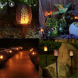 LED Solar Lights Waterproof Flickering Flame Solar Path Torch Light Outdoor Landscape Decoration Lighting Garden Lawn Patio Camping