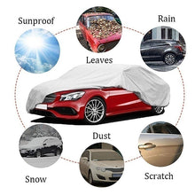 Load image into Gallery viewer, Outdoor Auto Vehicle Cover Universal Full Car Cover Waterproof Windproof Dustproof Sunscreen UV Protection Scratch Resistant Snow Rain Covers
