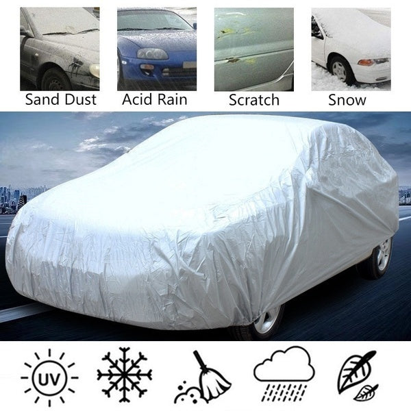 Outdoor Auto Vehicle Cover Universal Full Car Cover Waterproof Windproof Dustproof Sunscreen UV Protection Scratch Resistant Snow Rain Covers