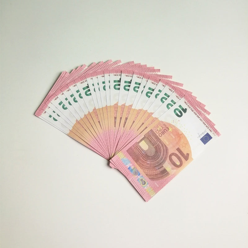 New Prop Copy 50 Fake Paper Money Bank Training Collect Learning Banknotes Magic Prop (Play Money/Not Legal Tender)