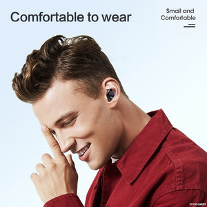 Style-Carry V7 Bluetooth 5.0 Wireless Headset Binaural Stereo Earbuds TWS Power Display 8000mAh Earphone
