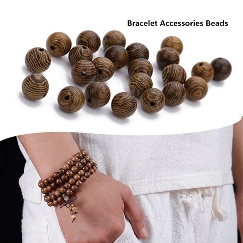6/8/10mm Big wooden beads Wooden round beads Loose beads     Chicken wing wood beads spacer beads     DIY beads Wooden Beads for Jewelry Making