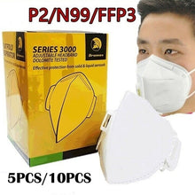 Load image into Gallery viewer, N95/P2/FFP3/KN95 Face Mask Respirator Airborne Coronavirus Bushfires Flu Face Mask 5/10PCS