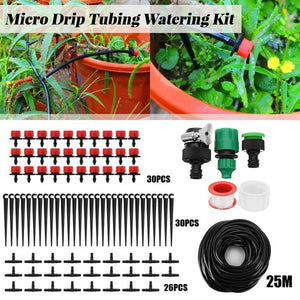 33/133/91/191Pcs Lawn/Farm Automatic Sprinkler System Dripper DIY Garden Drip Irrigation System Hose Kits Plant Flower Watering Sprinkler Patio Water Mister