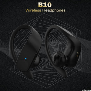 Style-Carry B10 Sports Bluetooth Headset Digital Display Hanging Ear Tws 5.0 Wireless 8000mAh Earphone