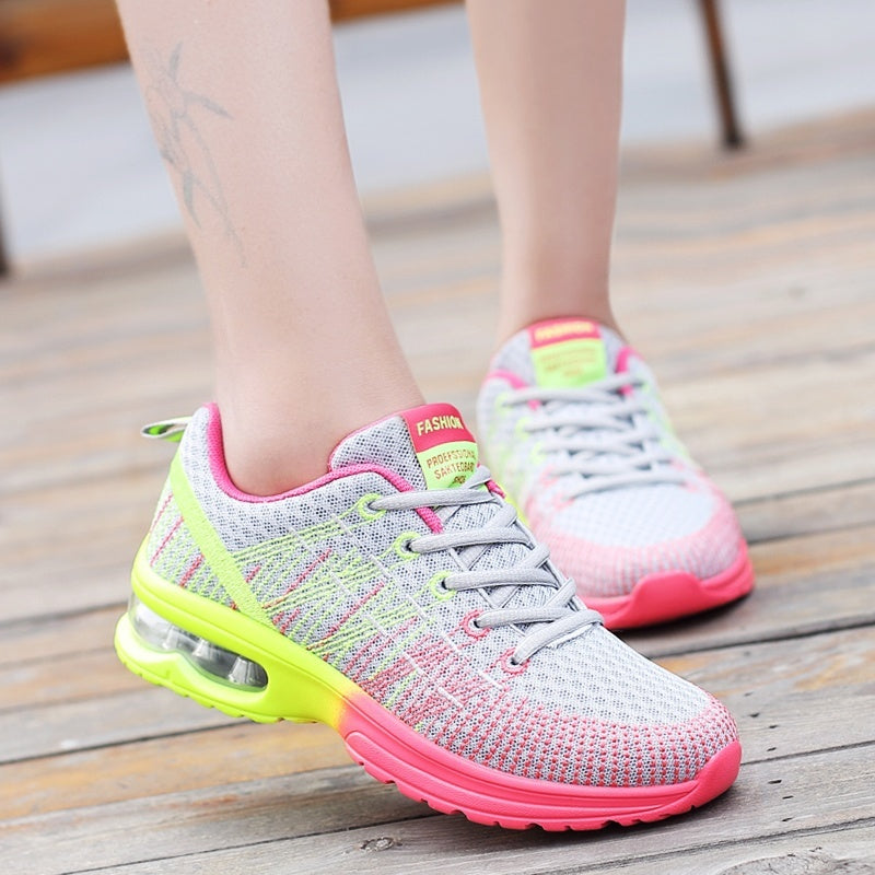 Women's Air Cushion Casual Shoes Shock Absorbing Running  Lace Up Sneakers Women Casual Sneakers for Tannis/Athletic /gym (size:35-46)