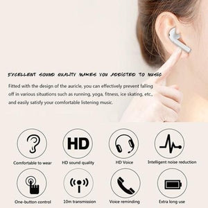 2020 Newest I7s TWS Headset Running Sport Noise Cancelling Stereo Audio Hand-free In-ear Wireless Bluetooth Single or Twin Earbuds with or without Battery Charging Box