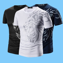Load image into Gallery viewer, Fashion!!!Summer New Men's Tattoo Print Breathable Short-sleeved T-shirt Men's Tops