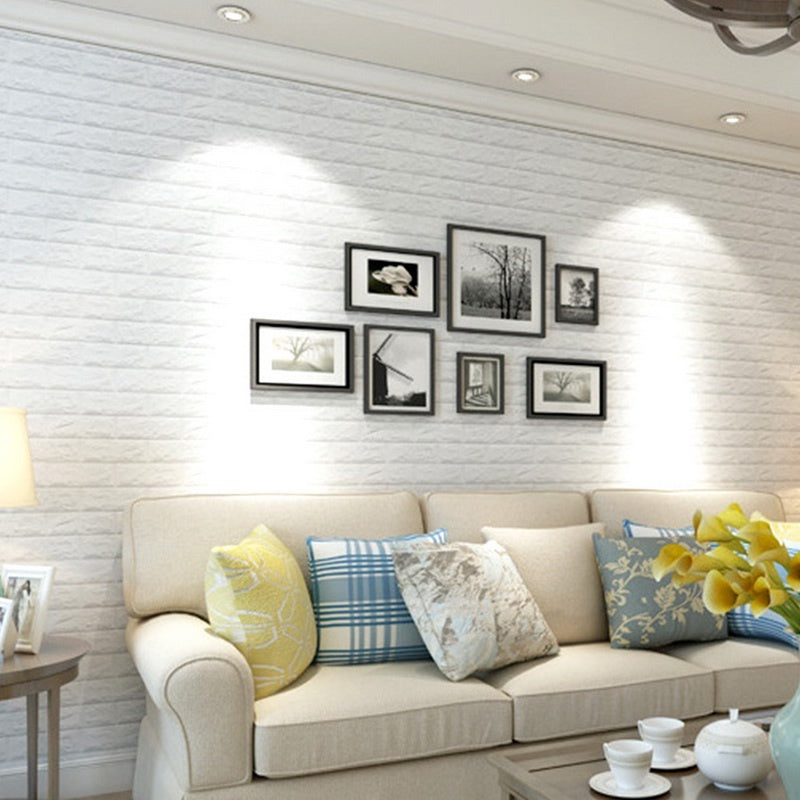 Pack Of 10 3D Pattern Anti- Wall Background Bedroom Living Room Decor Stickers (Size:60*30cm)