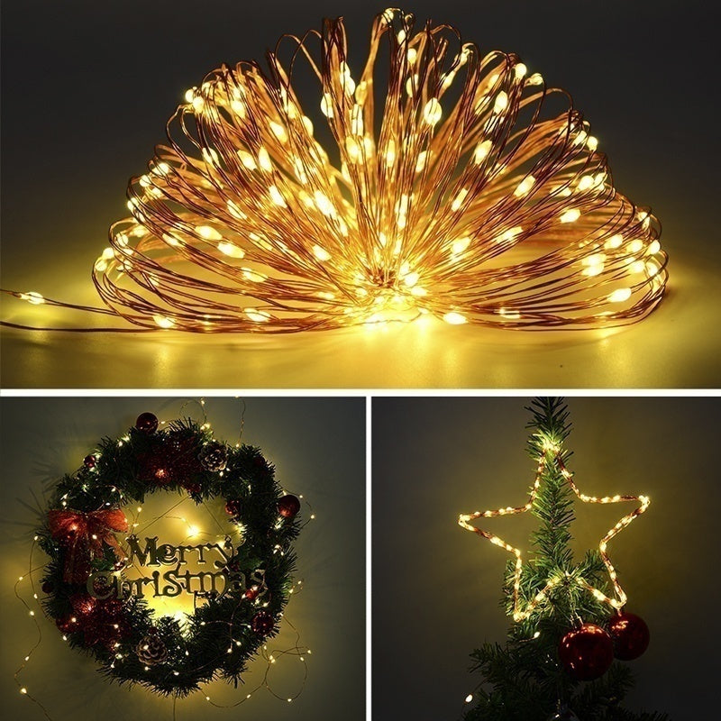 USB 5M 50LEDs/10M 100 LED String Light Christmas Waterproof Copper Wire LED String Fairy Light Powered Remote Controller
