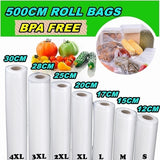 2020 Kitchen Vacuum Sealer Bags Reusable Rolls Fresh-keeping Food Saver Storage Bag