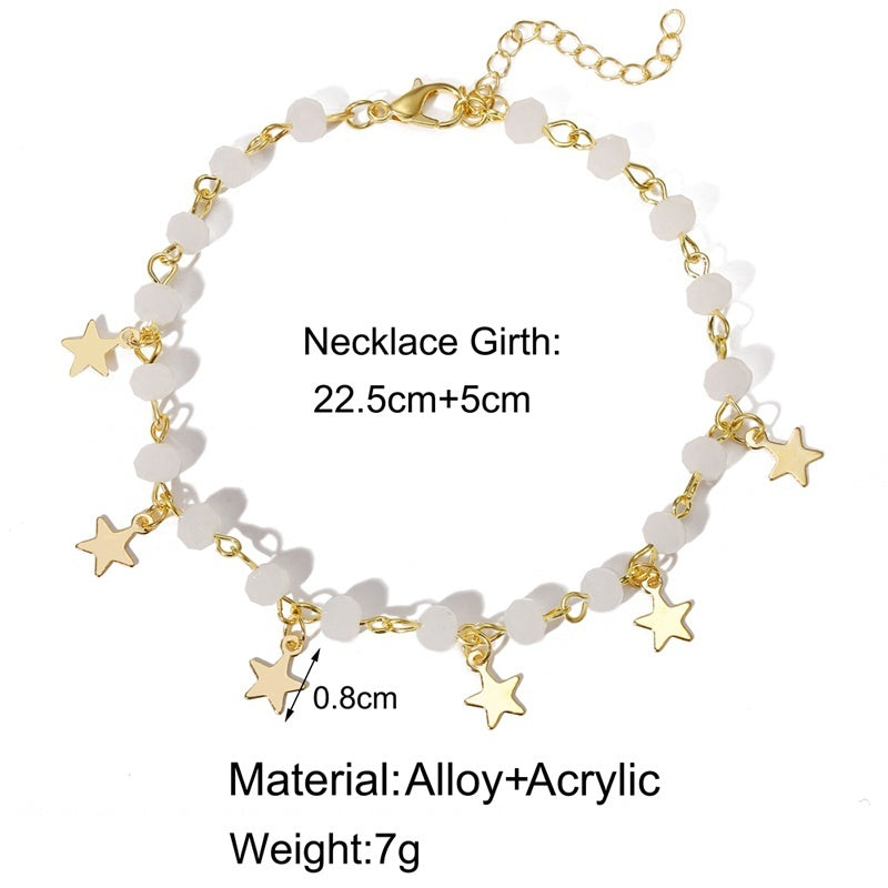 New Style Multilayer Butterfly Pendant Gold Anklets Boho Ankle Bracelet on Foot Jewelry for Women(no Gift Box)