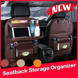 (1 PCS) 2020 New Multi-Pocket Car Seat Back Organizer PU Leather/Wool Felt Storage Container Hanging Box Multifunction Vehicle Storage Bag Car-styling