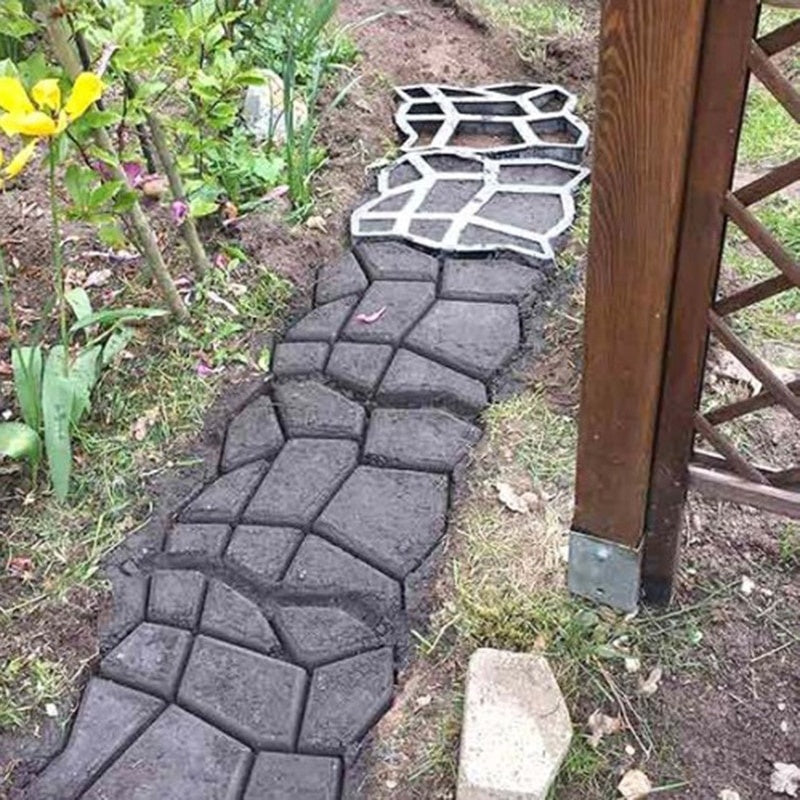 1 PC Home Garden Soil Path Pavement Mold Reusable Concrete Pavement Mold DIY Paving Mold Cement Stone Pathway Floor Paving Mold