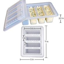 Load image into Gallery viewer, Butter Molds Silicone Butter Mold - Crystal Clear Butter Sticks Magical Butter Tray Includes Butter Recipe Booklet Non-Stick Rectangular Mold