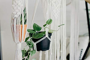 I Heart Kits DIY Macrame Wall Hanging Kit – Makes 3 Projects: 1 Macrame Plant Hanger, 1 Macrame Keychain & 1 Macrame Wall Hanging, Includes Cotton Cord 4mm (109 Yds) + Macrame Supplies