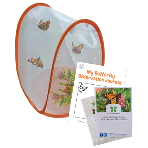 Butterfly Garden Kit | Butterfly House with Common Milkweed Seeds for Monarch Butterflies | Monarch Butterfly kit| Butterfly Habitat