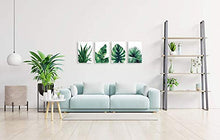 Load image into Gallery viewer, Botanical Prints Wall Art 8X10 UNFRAMED for Bathrooms, 4 Pieces Tropical Plants Pictures Minimalist Watercolor Painting, Palm Banana Monstera Green Leaf Wall Decor for Office Bedroom Living RoomHome Wall Art Décor Plants Posters Oil Paintings Posters Prin