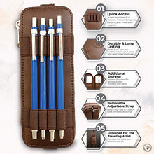 Load image into Gallery viewer, The Perfect Pencil Case, Pen Holder For Notebook, Brown Leather Pencil Case, Artist Case