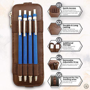 The Perfect Pencil Case, Pen Holder For Notebook, Brown Leather Pencil Case, Artist Case