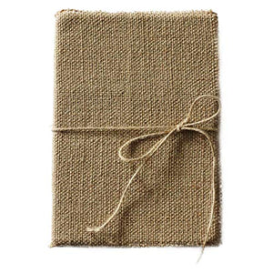 "A5 Linen Junk Journal w/ Manual Cut Pocket Pages(256 Pages, Unlined) – Vintage Writing Notebook w/ Recycled Paper– Handmade Travel Journal w/ Jute String – Rustic Journal for Art Sketching(7.5""x5.5"")"