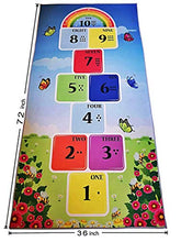 Load image into Gallery viewer, Hopscotch Rug (3' X 6') – 100% Polyester Hop and Count Hopscotch Rug with Counting Dots & Numbers - Durable Educational Rugs for Kids Ideal for Bedroom, Playroom & Nursery