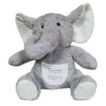 Load image into Gallery viewer, Elephant Tooth Fairy Plush Pillow with Tooth Holder Pocket for Boys Girls| Tooth Fairy Pillow Girl |Fairy Animals Plush Toy |Tooth Fairy Gift |ToothPillow Boys |A Keepsake Pouches for Girls/Boys 10''