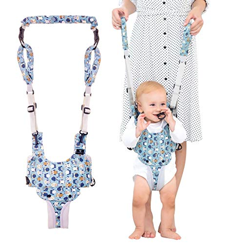 Radea Baby Walker - Safe Easy-Wearing Baby Walking Assistant - Toddlers Helper to Walk& Stand - Cool & Comfy Padded Baby Walking Harness - Adjustable Straps, 2-Handle Design for Mommy & Daddy