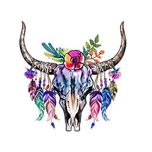 Load image into Gallery viewer, CEO Girls Club Skull and Horns Decal Indigo 21""