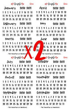 Load image into Gallery viewer, It's a Date Stickers by EmazeCo | Undated Planner or Calendar Labels | Month Date & Year Organizer Sticker Pack - 8 Easy to Read Sheets with Over 750 Stickers | Dated Stickers for Planners & Journals