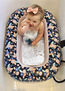 I Hatch and Herd Floral Inflatable Toddler Bathtub I Inflatable Baby Bathtub for Infants, Babies and Toddlers
