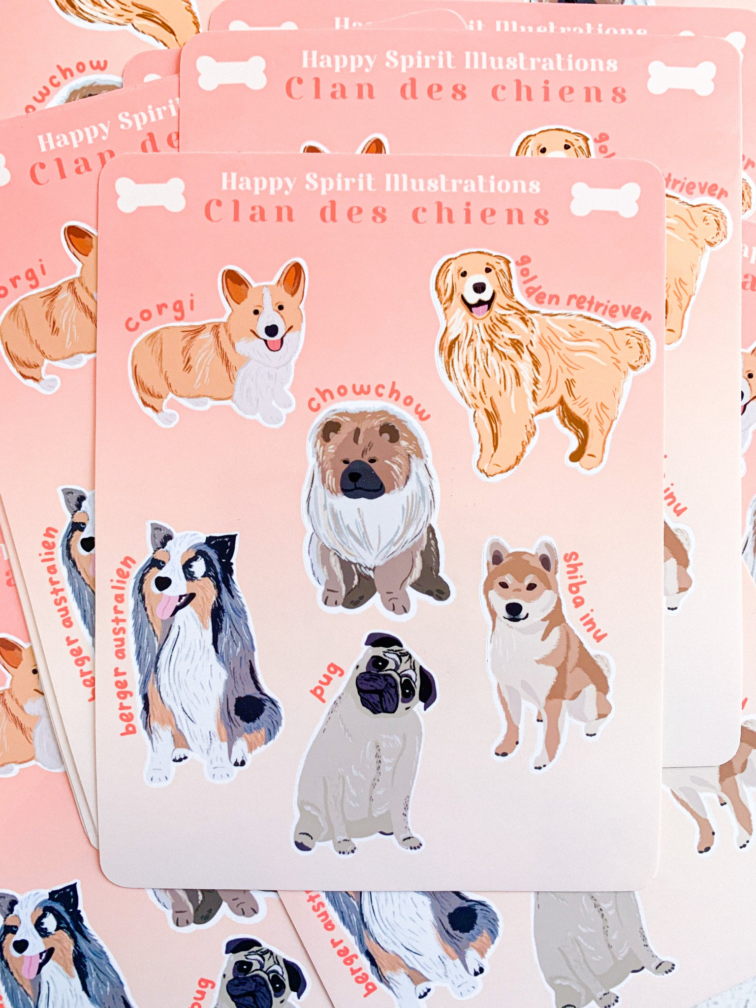 Sticker Sheet ⭑ Clan des chiens
