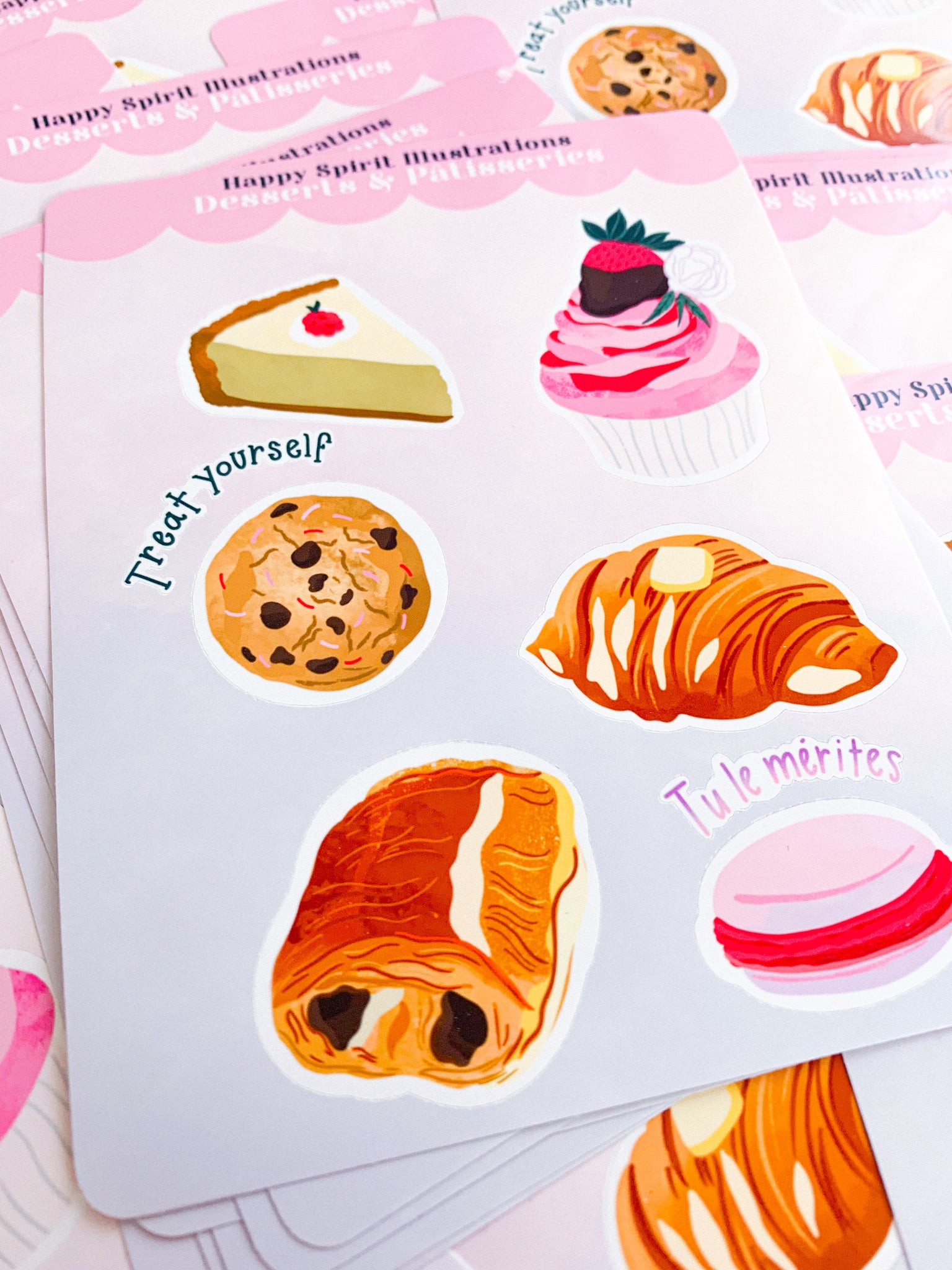 Sticker Sheet ⭑ Desserts & Pâtisseries