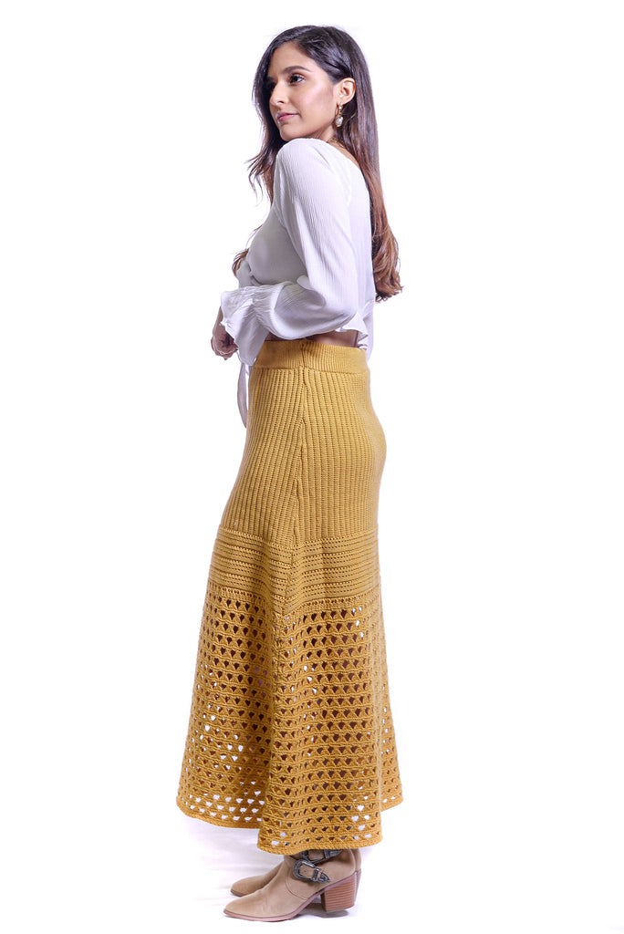 Take Me Out Crochet Knit Maxi Skirt