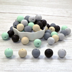 Joepeada 300Pcs/lots 12mm Round Silicone Teething Beads Food Grade Silicone Rodents For DIY Baby  Teething Necklace Baby Teether