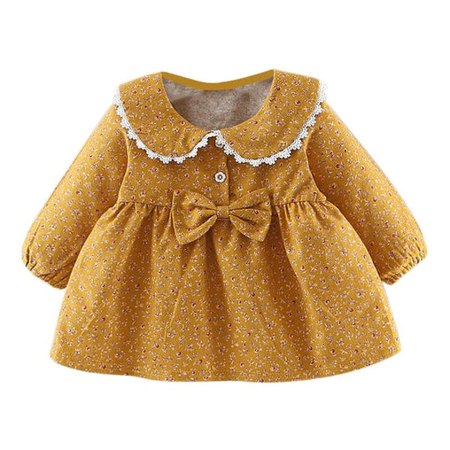 Baby Girls Clothes Winter Long Sleeve Dress - babiesfamily
