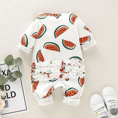 Baby Girl Clothes Watermelon Cute Casual - babiesfamily