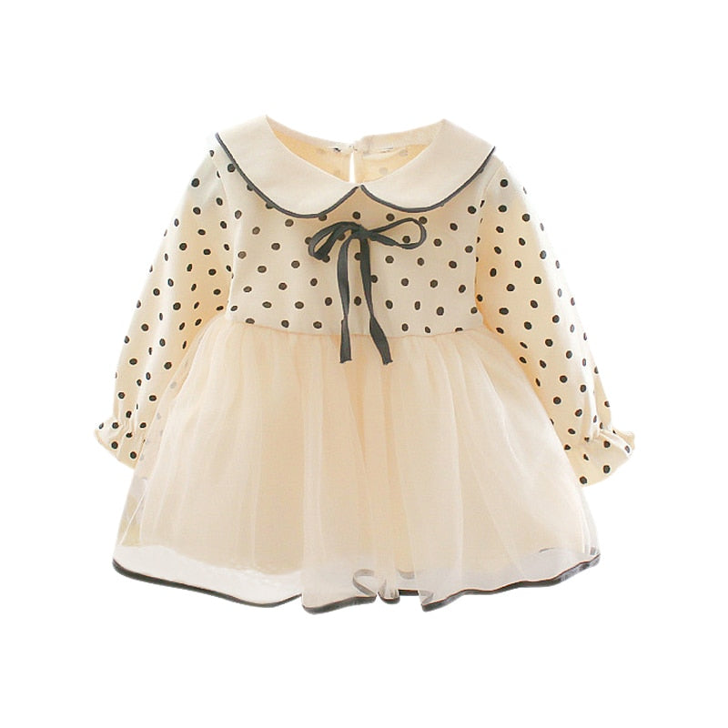 Baby Girl Dress Dot Pattern Long-sleeved - babiesfamily
