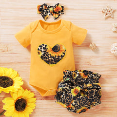 Baby Girls Clothes Sets Sunflowers Romper - babiesfamily