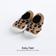 baby cartoon anti-skid floor socks,spring and summer leopard print children's rubber sole shoes,  baby toddlers'shoes and socks
