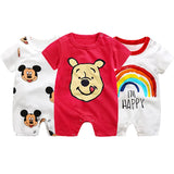 Disney Mickey  Cartoon Newborn baby Jumpsuit Boys Summer Onesize Infant Baby Girls Clothes Disney