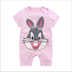 Disney Mickey  Cartoon Newborn baby Jumpsuit Boys Summer Onesize Infant Baby Girls Clothes Disney - babiesfamily