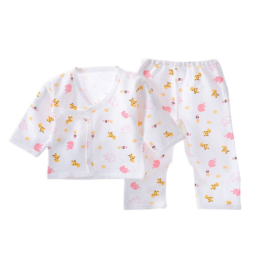 Hot  Newborn clothing Fashion cotton infant underwear baby boys girls suits set  clothes for 0-3M Baby Robe Tops For All Seasons