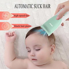 Baby Waterproof Hair Clipper Child Hair Clippers Electric Quiet Trimmer Child Silent Cutting Machine Suction Hair Shaver