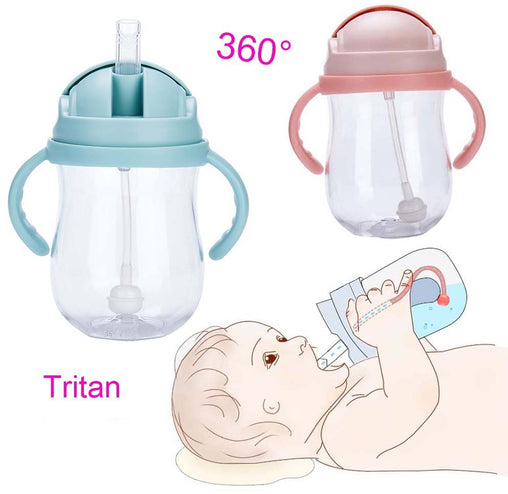 Silica Gel Feeding Kids Toddler Newborn Baby Drink Cups Water Bottles Kids Drinking Sippy A Cup with Straw Copo Infantil Drinker