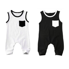 Summer Baby Boys Clothing Sleevless Jumpsuit - babiesfamily