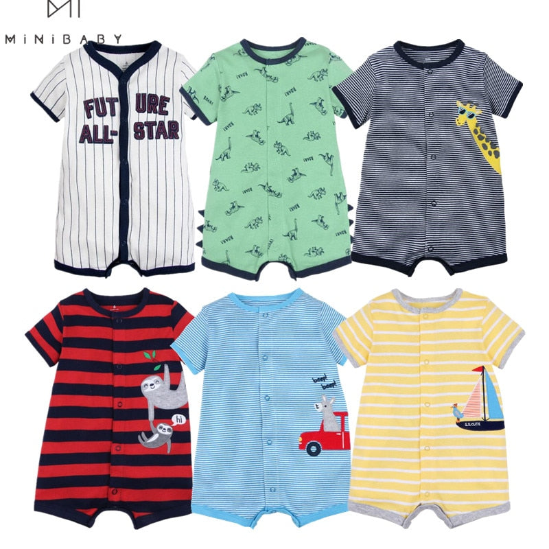 Brand Summer 2020 baby boys clothes cotton Jumpsuit Short sleeve Roupas  Menino for Baby Boy Body overalls , 0-24M baby rompers